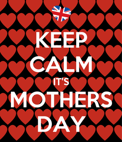 Poster: KEEP CALM IT'S MOTHERS DAY
