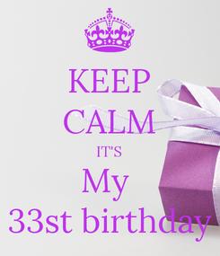 Poster: KEEP CALM IT'S My  33st birthday