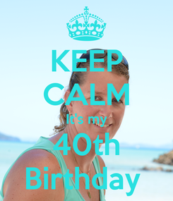 Poster: KEEP CALM It's my 40th Birthday