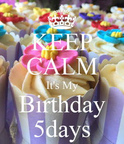 Poster: KEEP CALM It's My Birthday 5days