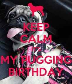 Poster: KEEP CALM IT'S MY PUGGING BIRTHDAY