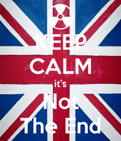 Poster: KEEP CALM it's Not The End