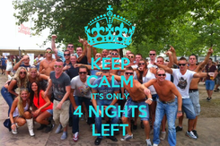 Poster: KEEP CALM IT'S ONLY 4 NIGHTS LEFT