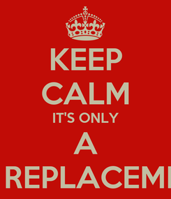 Poster: KEEP CALM IT'S ONLY A HIP REPLACEMENT