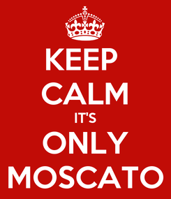 Poster: KEEP  CALM IT'S ONLY MOSCATO