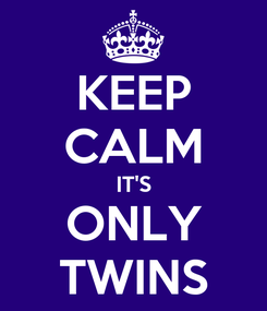 Poster: KEEP CALM IT'S ONLY TWINS