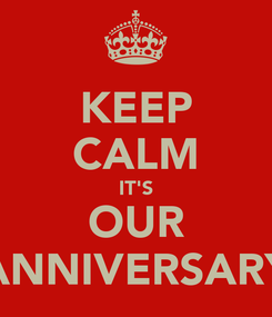 Poster: KEEP CALM IT'S OUR ANNIVERSARY