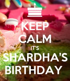 Poster: KEEP CALM IT'S SHARDHA'S BIRTHDAY