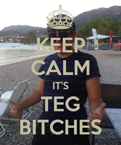Poster: KEEP CALM IT'S TEG BITCHES