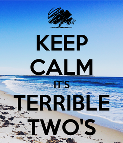 Poster: KEEP CALM IT'S TERRIBLE TWO'S