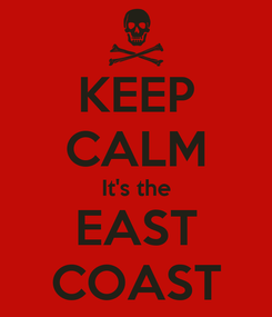 Poster: KEEP CALM It's the EAST COAST