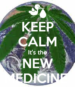 Poster: KEEP CALM It's the NEW MEDICINE