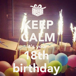 Poster: KEEP CALM it's your  18th  birthday