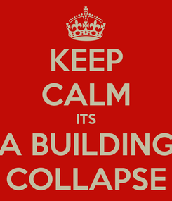Poster: KEEP CALM ITS A BUILDING COLLAPSE