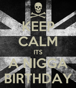 Poster: KEEP CALM ITS A NIGGA BIRTHDAY