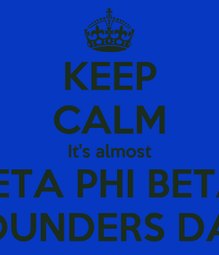 Poster: KEEP CALM It's almost ZETA PHI BETA  FOUNDERS DAY