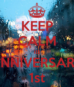 Poster: KEEP CALM its ANNIVERSARY 1st