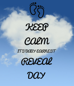 Poster: KEEP CALM ITS BABY EARNEST  REVEAL DAY