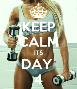 Poster: KEEP CALM ITS DAY  4