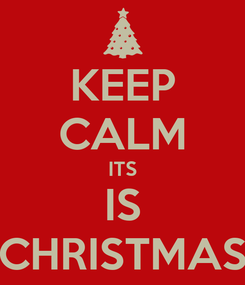 Poster: KEEP CALM ITS IS CHRISTMAS