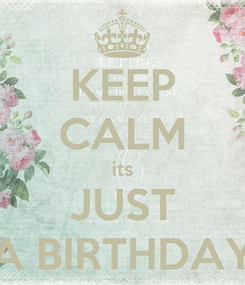Poster: KEEP CALM its JUST A BIRTHDAY