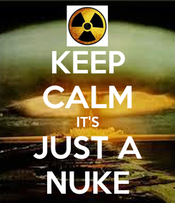 Poster: KEEP CALM IT'S JUST A NUKE