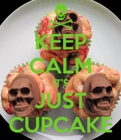 Poster: KEEP CALM IT'S JUST CUPCAKE