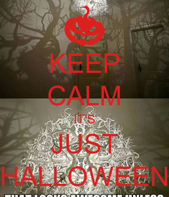Poster: KEEP CALM IT'S JUST HALLOWEEN