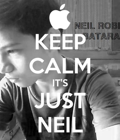 Poster: KEEP CALM IT'S JUST NEIL