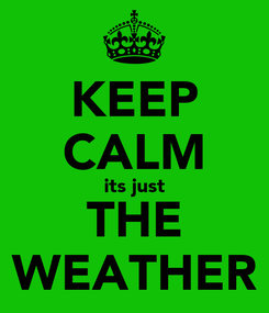 Poster: KEEP CALM its just THE WEATHER