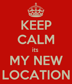 Poster: KEEP CALM its  MY NEW LOCATION