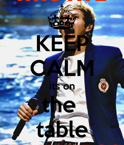 Poster: KEEP CALM its on the  table