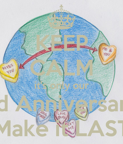 Poster: KEEP CALM it's only our 3rd Anniversary!! Make it LAST