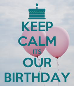 Poster: KEEP CALM ITS OUR BIRTHDAY