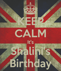 Poster: KEEP CALM It's Shalini's Birthday
