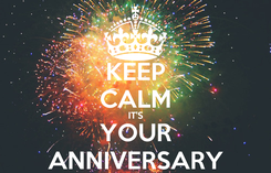Poster: KEEP CALM IT'S YOUR ANNIVERSARY
