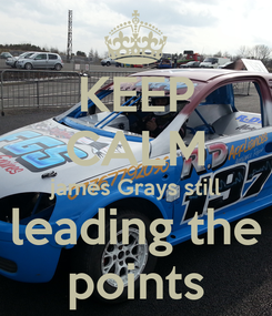 Poster: KEEP CALM james Grays still leading the points