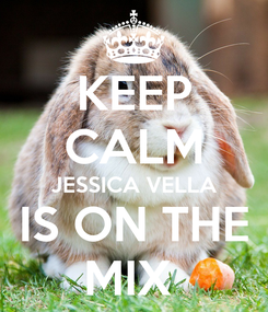Poster: KEEP CALM JESSICA VELLA IS ON THE MIX