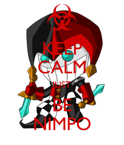Poster: KEEP CALM JUST BE NIMPO