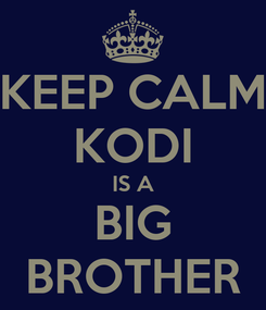 Poster: KEEP CALM KODI IS A BIG BROTHER