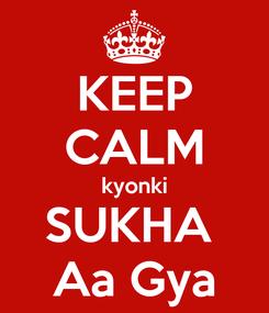 Poster: KEEP CALM kyonki SUKHA  Aa Gya