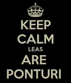 Poster: KEEP CALM LEAS ARE  PONTURI