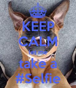 Poster: KEEP CALM let me take a #Selfie