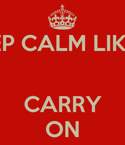 Poster: KEEP CALM LIKE M   CARRY ON
