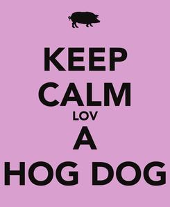 Poster: KEEP CALM LOV A HOG DOG
