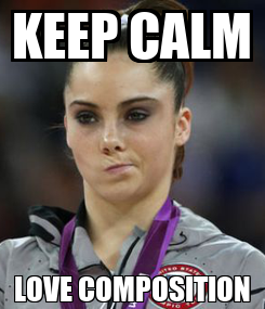 Poster: KEEP CALM LOVE COMPOSITION