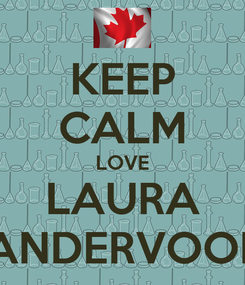 Poster: KEEP CALM LOVE LAURA VANDERVOORT