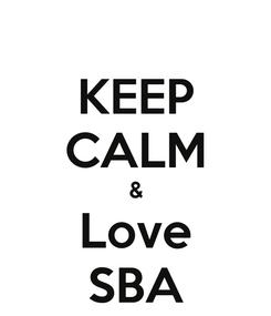 Poster: KEEP CALM & Love SBA