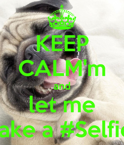 Poster: KEEP CALM'm and let me take a #Selfie