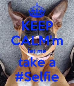 Poster: KEEP CALM'm let me take a #Selfie